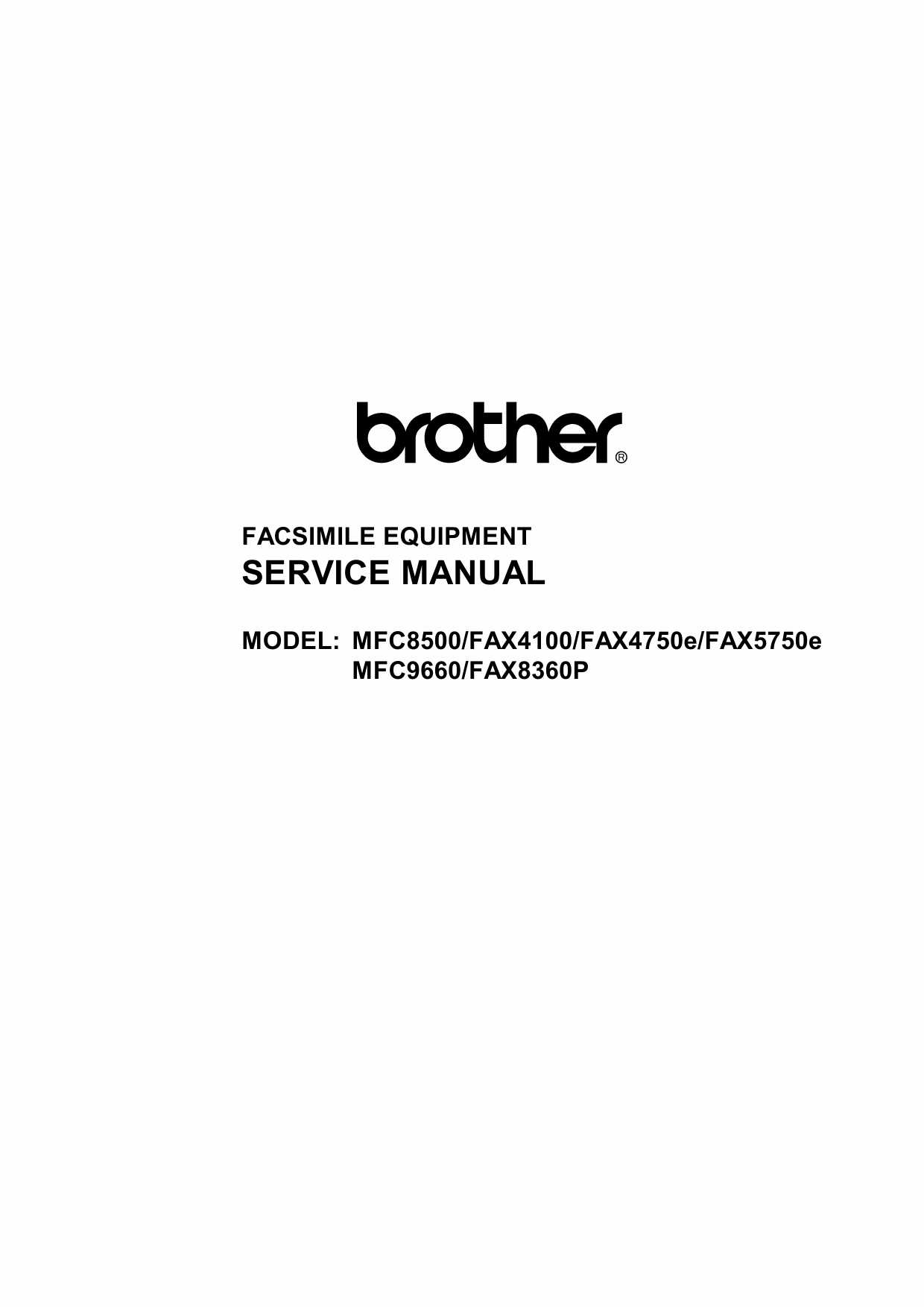 Brother MFC 8500 9660 FAX4100 5750 8360 Service Manual-1